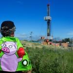 Protest gegen Fracking-Testfeld in Saal (Mecklenburg-Vorpommern)
