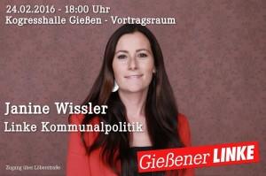 Diskussion mit J. Wissler (Die Linke) - linke Kommunalpolitik @ Vortragsraum Kongreßhalle | Gießen | Hessen | Deutschland