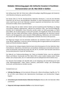 Demo Globaler Aktionstag gegen die türkische Invasion in Kurdistan @ Berliner Platz | Gießen | Hessen | Deutschland