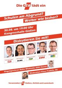 GEW-Diskussion zur LW: Schulen am Abgrund? Weiter wie bisher? @ Kongresshalle | Gießen | Hessen | Deutschland