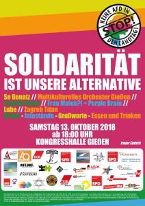 Solidarität ist unsere Alternative! @ Kongresshalle | Gießen | Hessen | Deutschland