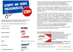 Diskussion um neue Polizeigesetze @ Nav-DEM, Ederstr. 14-16 | Gießen | Hessen | Deutschland