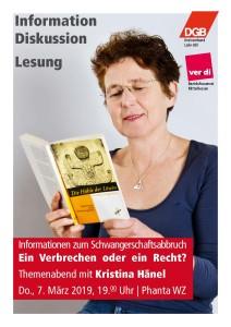 Diskussion mit Kristina Hänel zum § 219a @ Phantastische Bibliothek