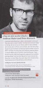 """""""Das ist mir ein Glück"""" - Andreas Meier & Peter Kurzeck @ Alte Schule"""