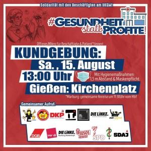 Kundgebung: Keine Profite für die Gesundheit - Gemeinsam für unser Klinikum! @ Kirchenplatz